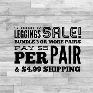 Pants - 3/$15 Bundle Leggings & Save!